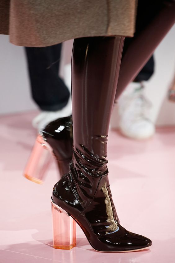 Christian Dior Fall 2015 #boots #patent #leather: