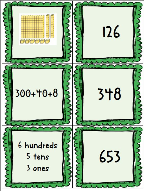 FREE Place Value Concentration-goes through the thousands place!