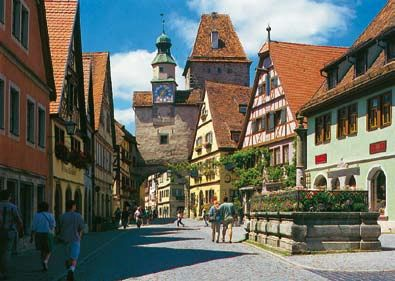 Rothenburgh ob der Tauber, Germany I slept there for a while and shopped a lot!!!!