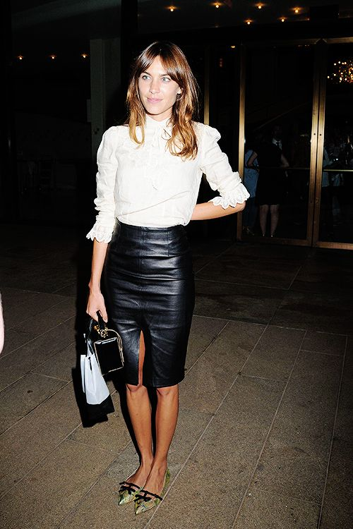 Alexa Chung seen leaving the Opening Ceremony Fashion show at the Metropolitan Opera House in Lincoln Center, New York City - 7 September 2014: