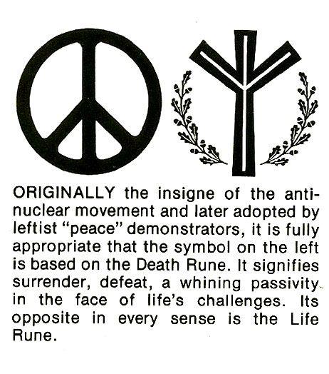 Something Interesting I Noticed Life Rune Is Inverted Peace Symbol