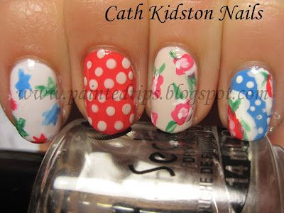 Cath Kidston Nails!!  I love Cath Kidston, and these look lovely!