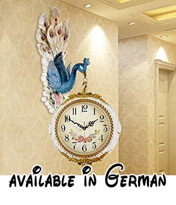 TITI Retro Wanduhren Duplex Uhren Wohnzimmer Uhren Kreative - schöne wanduhren wohnzimmer