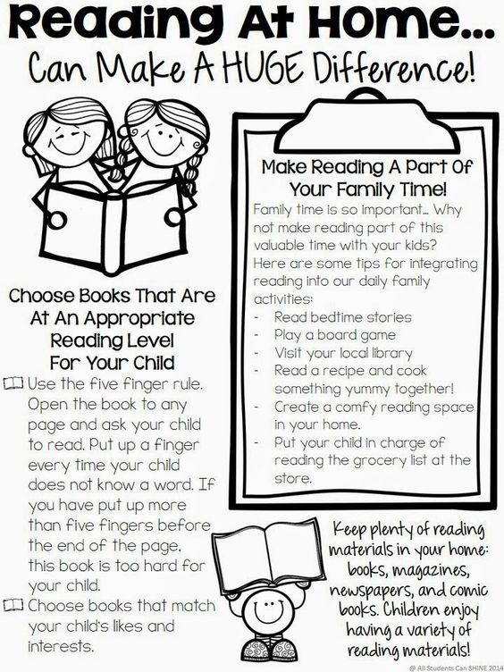 Reading At Home - Tips For Parents - All Students Can Shine