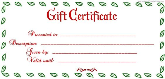 christmas gift certificate templates - Google Search December - printable christmas gift certificates templates free