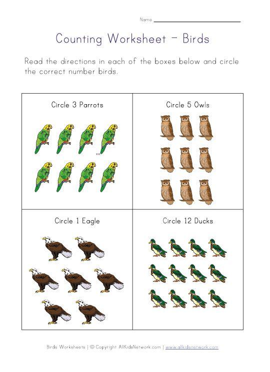 preschool bird math worksheets – Preschool Math Worksheets Counting