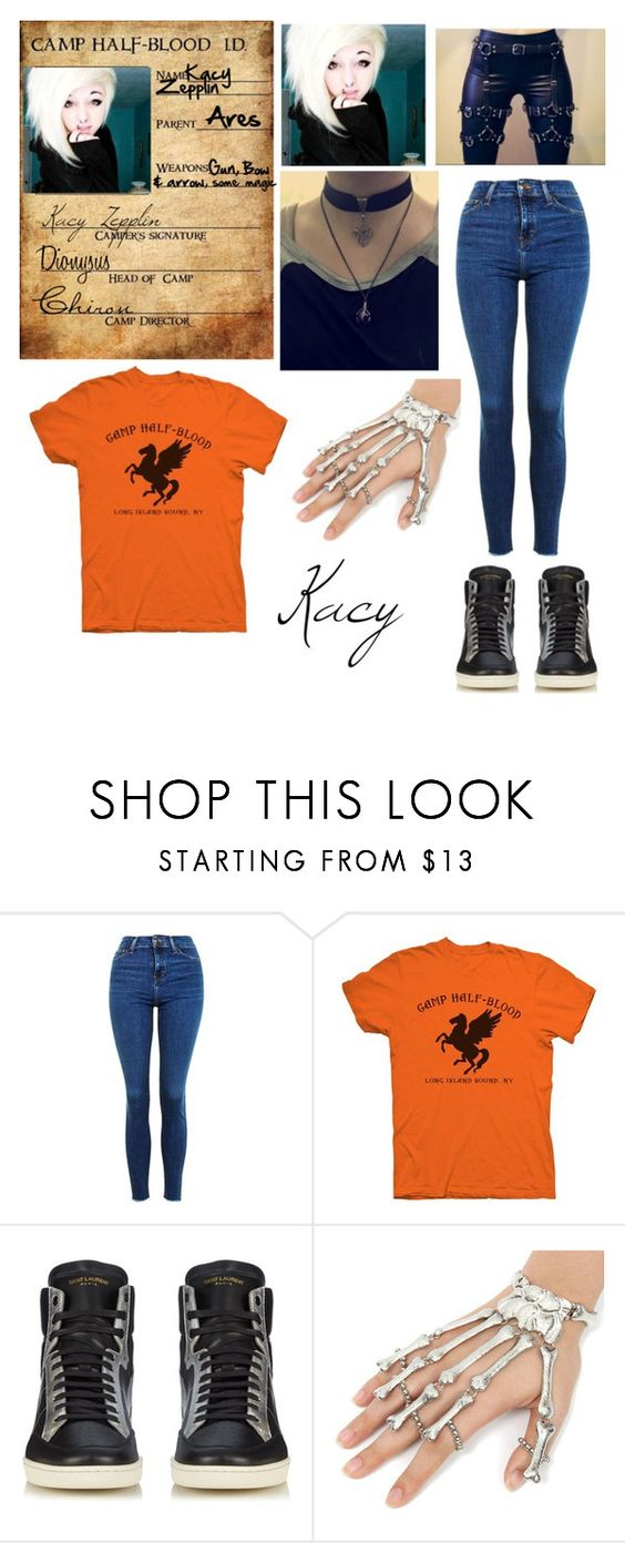 """""""My Percy Jackson OC"""" by heyitstinsel ❤ liked on Polyvore featuring Topshop and Yves Saint Laurent"""