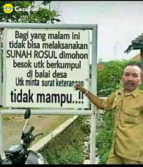 Sunah Rosul Funny Cartoon Jokes Teks Lucu