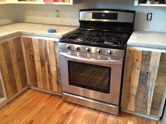 Pallet board cabinet doors- completely free and totally one-of-a ...