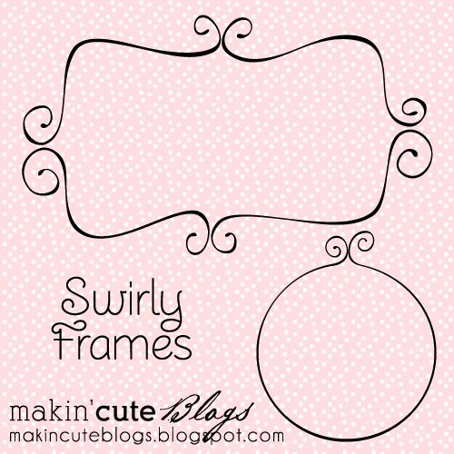 FREEBIE: Swirly Frames – Free for Commercial Use