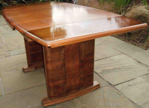 A Walnut Art Deco Extending Dining Table Extendable Dining Table Art Deco Dining Table