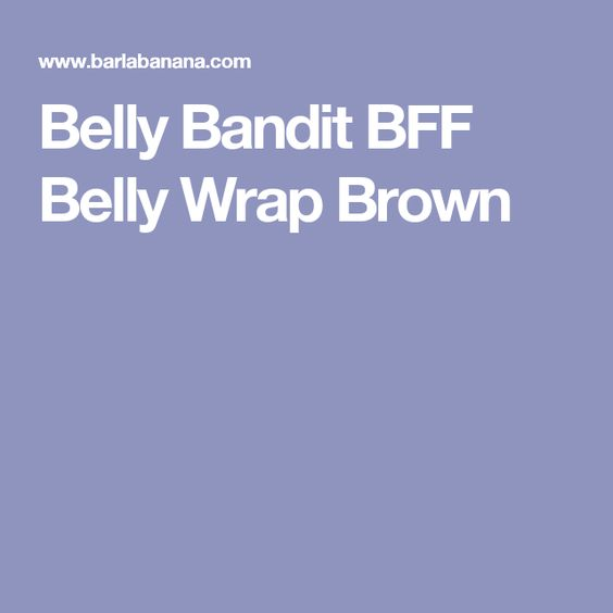 Belly Bandit BFF Belly Wrap Brown