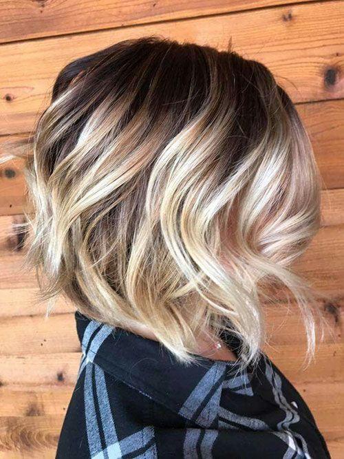 Short Brown Hair With Blonde Highlights Blonde Ombre Kurze Haare Kurze Blonde Haare Kurze Braune Haare