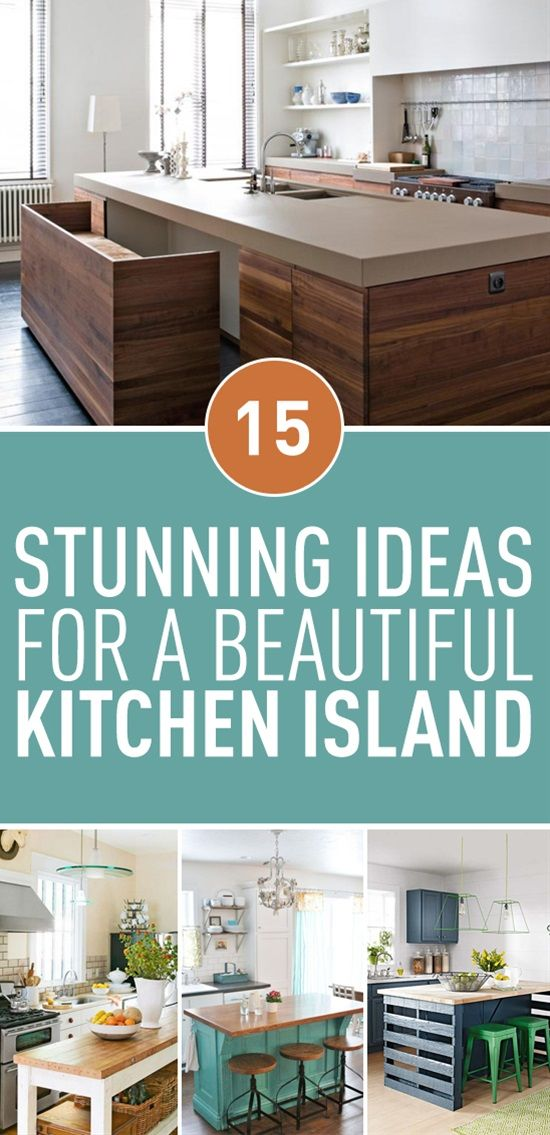 Don T You Just Love Kitchen Islands Having A Kitchen Island Means That Your Kitchen Is More Rustic Dining Room Chic Living Room Design Farmhouse Kitchen Decor Living room and kitchen means
