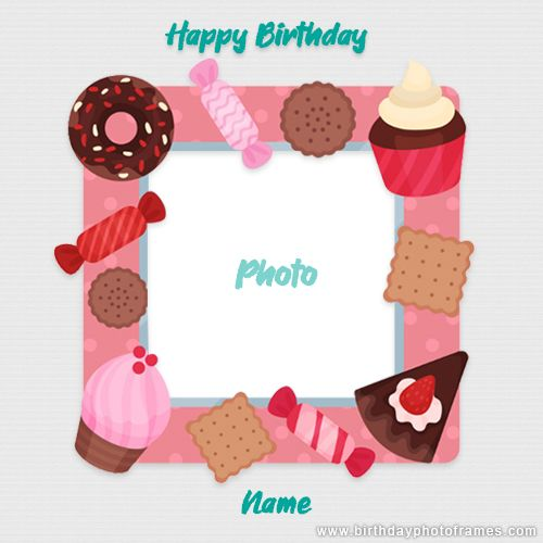 Online Happy Birthday Card Maker With Photo Birthday Card With Name Birthday Card With Photo Free Online Birthday Cards