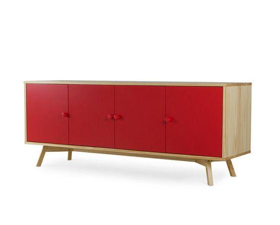 Buffet Celeste - 4 Portas - Vermelho