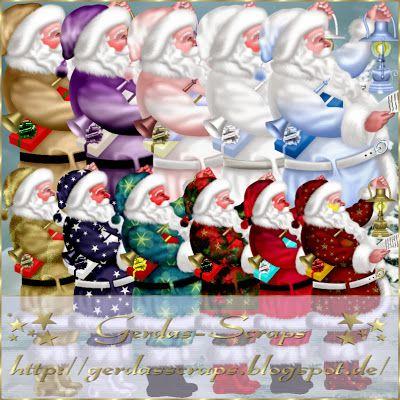 Gerdas Scrap's: Scrap-Santas-2013