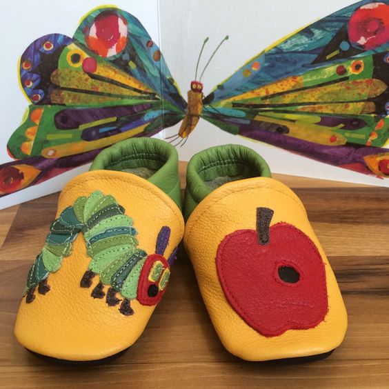 Joe loves these Caterpillar Soft Soled Leather Shoes by brandalionbeads on Etsy