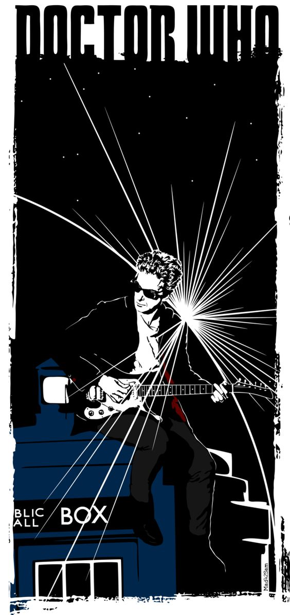 Peter Capaldi ...And His Guitar by Mad42Sam.deviantart.com on @DeviantArt, Doctor Who.