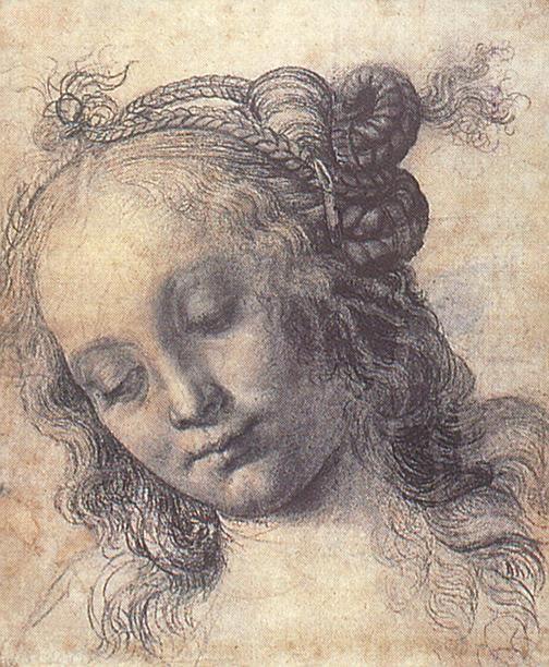 Andrea del Verrocchio - Woman Looking Down, early Renaissance