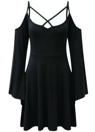 Killstar Séance Angel Sleeve Skater Dress , £39.99
