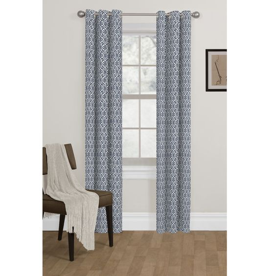 Maytex Metronorm Blackout Foam Back Curtain Panel Pair by Maytex ...