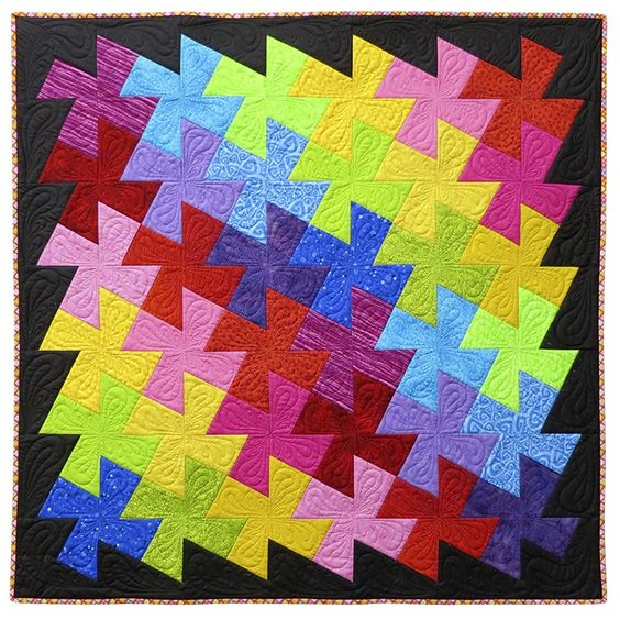 Free Twisted Pinwheel Quilt Pattern : Pinterest The world s catalog of ideas