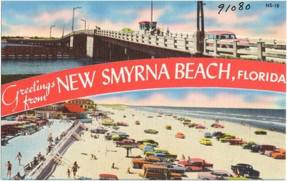 New Smyrna Beach Postcard   © Boston Public Library/Flickr