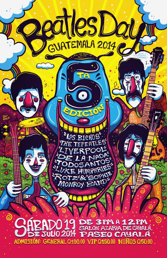 Entry for the Poster Exhibition BEATLES DAY GUATEMALA 2014 (Graphic Tribute to The Beatles)