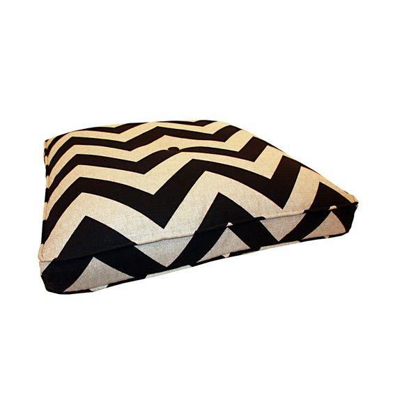 """Square Floor Pillow 28"""" Black"""