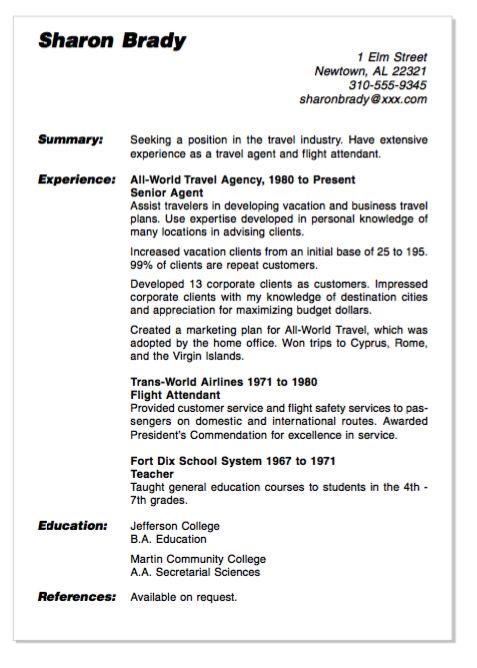 resume objective for flight attendant