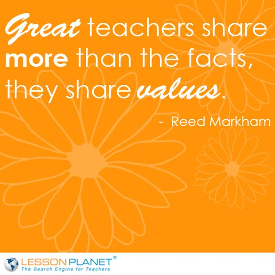 "Famous Quotes About Sharing: ""Great Teachers Share More Than The Facts, They Share"