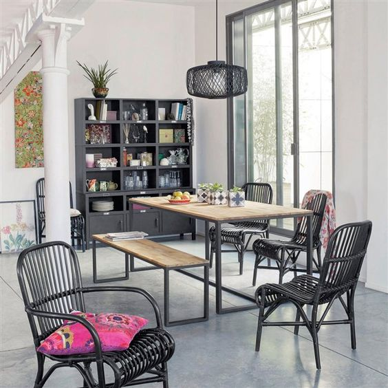 Table 6 8 couverts ch ne massif about hiba tables - Table hiba la redoute ...