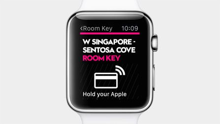 The SPG app on Apple Watch lets you check into your hotel and unlock your room.