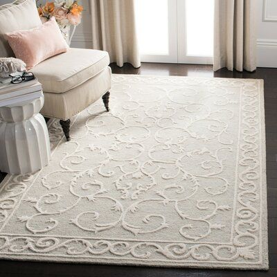 Charlton Home Dawnview Oriental Handwoven Wool Light Gray Ivory Area Rug In 2020 Light Grey Rug Rugs Colorful Rugs