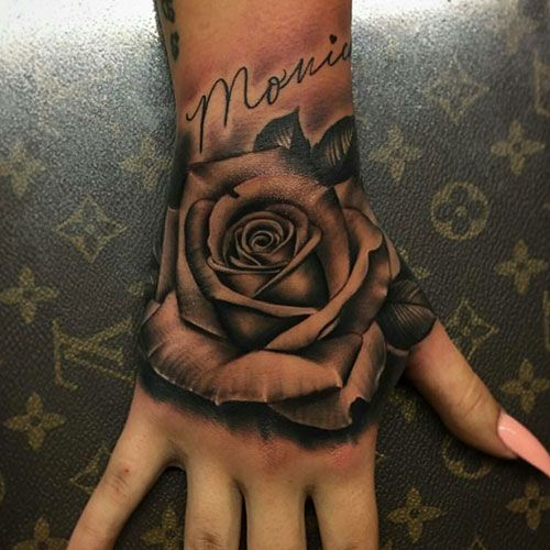 101 Best Rose Tattoo Ideas For Women 2020 Guide In 2020 Hand Tattoos Hand Tattoos For Women Cute Hand Tattoos
