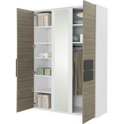 Kleiderschrank 3 Turig Holzfarben 151 3 Cm 214 8 Cm 61 5 Cm Schrank Wardrobe 3 Doors Wood Colo In 2020 Cupboard Wardrobe Wood Colors Wood Doors