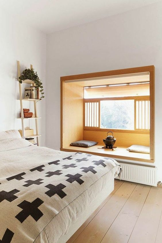 ヌック 寝室 旅館 おしゃれ 縁側 畳 くつろぎ スペース インテリア