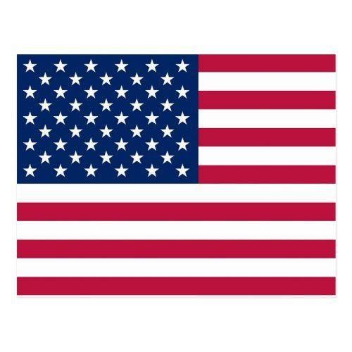 Postcard With Flag Of The Usa Zazzle Com In 2020 Usa Flag Art Flag Art Framed Flag