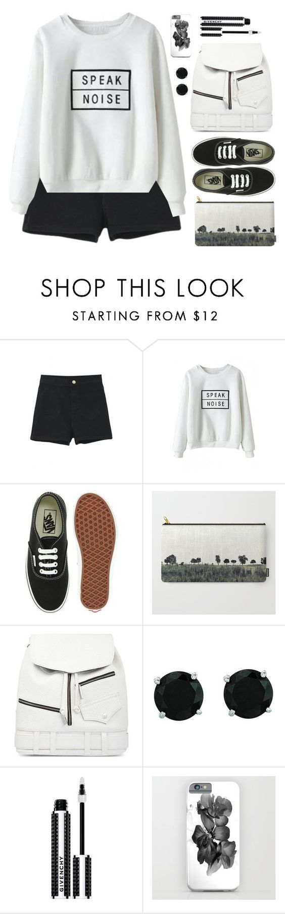 """""""Speak _ beautiful halo"""" by by-jwp ❤ liked on Polyvore featuring Vans, Skinnydip, BillyTheTree, Givenchy, blackandwhite and beautifulhalo"""