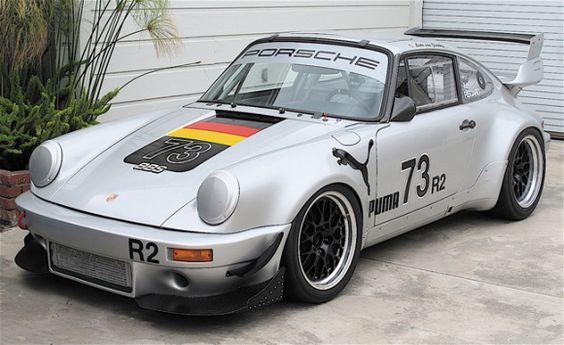 1988 Porsche 930 Turbo Race Car For Sale Silver Front