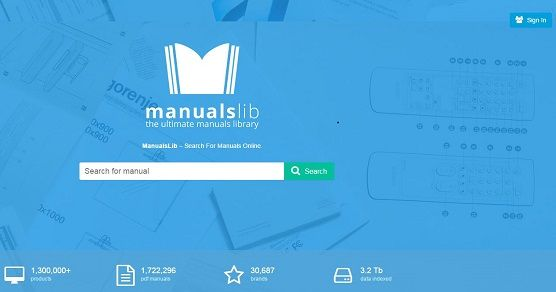 Manuals Library Homepage...  Manuals Library has compiled a database containing thousands of official product guides that can easily be searched for by brand and model.