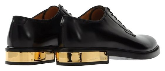 Leather/Gold Plate Shoes, Marc Jacobs
