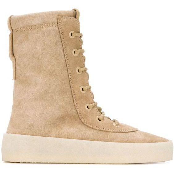 Yeezy Season 2 Crepe Sole Boots (€510) ❤ liked on Polyvore featuring shoes, boots, adidas originals shoes and adidas originals