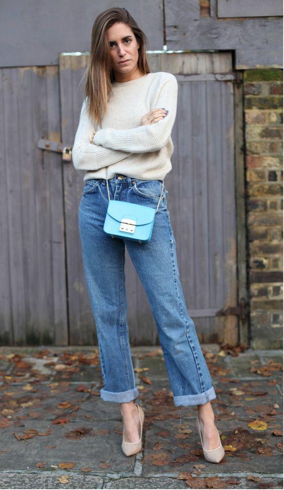 Gala González with mum jeans
