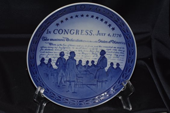 Royal Copenhagen Bicentennial Plate Number 2 Vintage 1976 Item #3136 by BigBlossomAntiques on Etsy