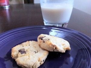 Gluten Free Coconut Chocolate Chip, Low Sugar Cookies :)