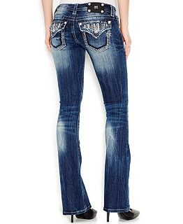 Miss Me Rhinestone Dark Wash Bootcut Jeans | Shops, Dark wash ...