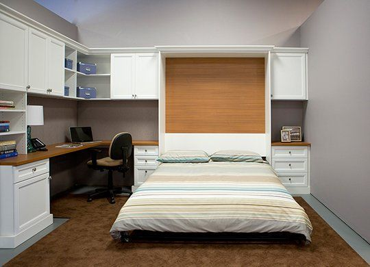 Combination home office   guest room with pull down wall bed. Combination home office   guest room with pull down wall bed