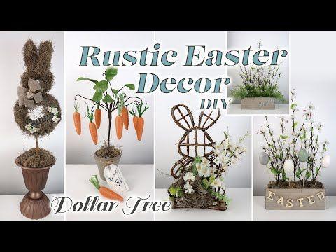 Dollar Tree Diy Rustic Easter Decor Youtube Diy Easter Decorations Rustic Easter Decor Dollar Tree Diy Crafts